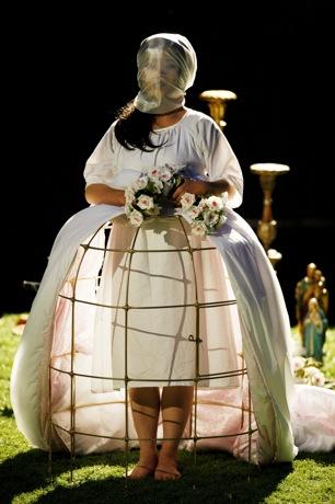 Freischütz - Agatha in her bridal gown